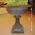 Urna copa hierro negro/bronce