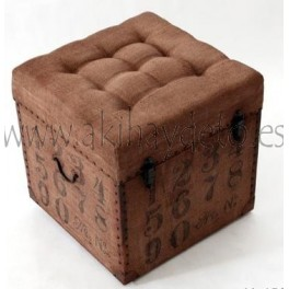 Baúl asiento tapicería números