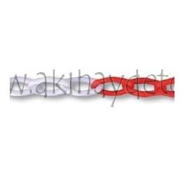 Cadena plástico blanca/roja