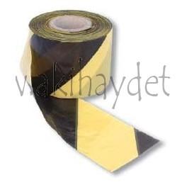Banda señalización amarilla/negra (30 micras)