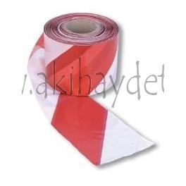 Banda señalización alta densidad blanca/roja (30 micras)