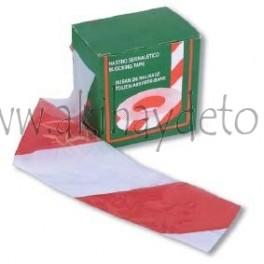 Banda señalización en caja blanca/roja (30 micras)