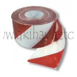 Banda señalización extra blanca/roja (100 micras)
