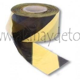 Banda señalización extra amarilla/negra (100 micras)
