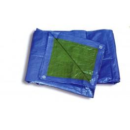 Toldo cubrir azul/verde 80 grs/m²