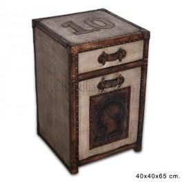 "Mesilla madera/textil modelo ""ANTIC SELLO"""
