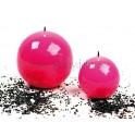 Vela bola rosa brillo