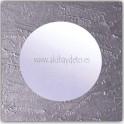 Espejo de pared cuadrado acabado rugoso gris plata