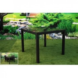 Mesa cuadrada jard n fibra sint tica - Muebles jardin fibra sintetica ...
