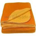 Par cobertor polar naranja/amarillo