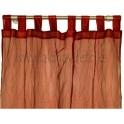 Par cortinas organza