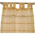 Par cortinas organza beige