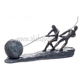 Bola y piedra hombres
