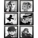Set 6 laminas mujer