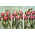 Pintura flores rosas