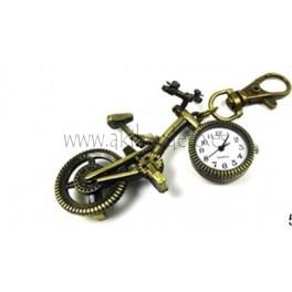 Llavero bicicleta con reloj.