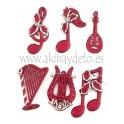 Set 6 Notas / Instrumentos Musicales