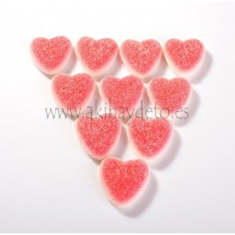 Gominolas corazones de fresa y nata.