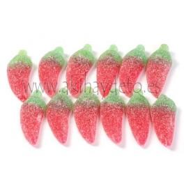 Gominolas en forma de guindillas.