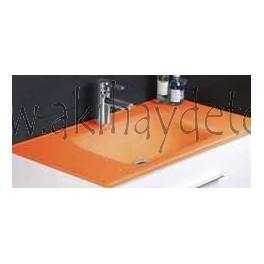 "Lavabo de cristal modelo ""Vitrum naranja"""