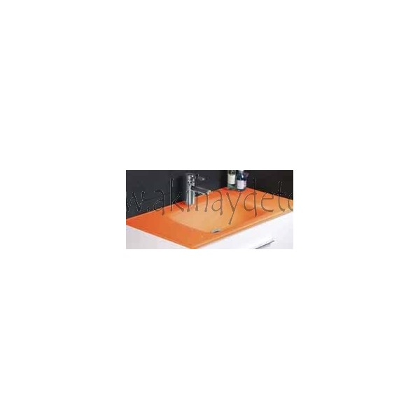 Lavabo de cristal vitrum naranja - Lavabo de cristal ...
