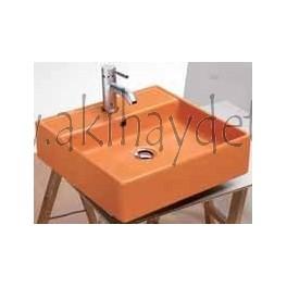 "Lavabo modelo ""teorema r naranja"""