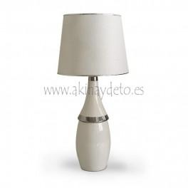 Lámpara sobremesa base cerámica