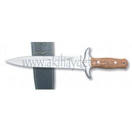 Cuchillo de montería olivo funda cuero