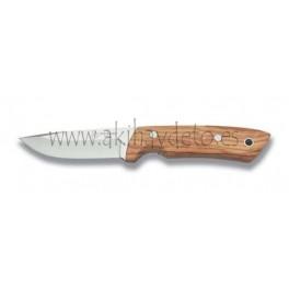 Cuchillo de caza olivo funda cuero